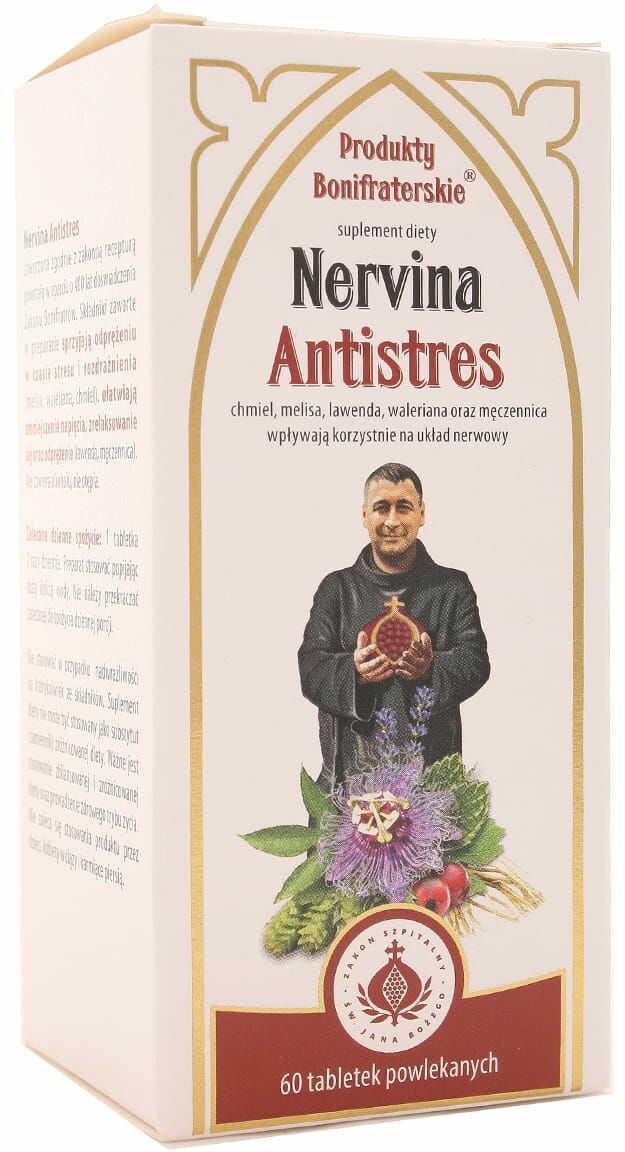 Nervina Antistres - Produkty Bonifraterskie - 60 tabletek