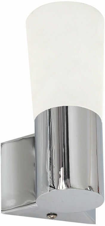 Milagro BATH ML026 kinkiet lampa ścienna jedno źródło światła w akrylowym kloszu na metalowej chromowanej obudowie 1X4W LED IP44 12cm