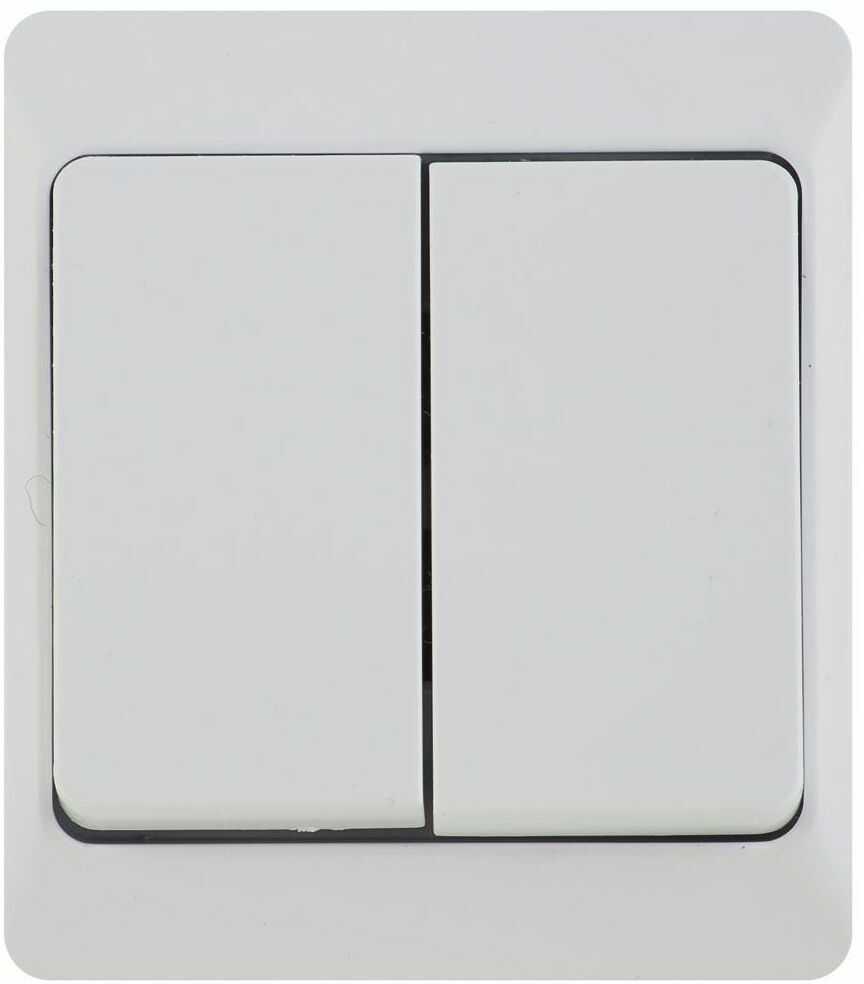 Włącznik podwójny HERMES Biały ELEKTRO-PLAST