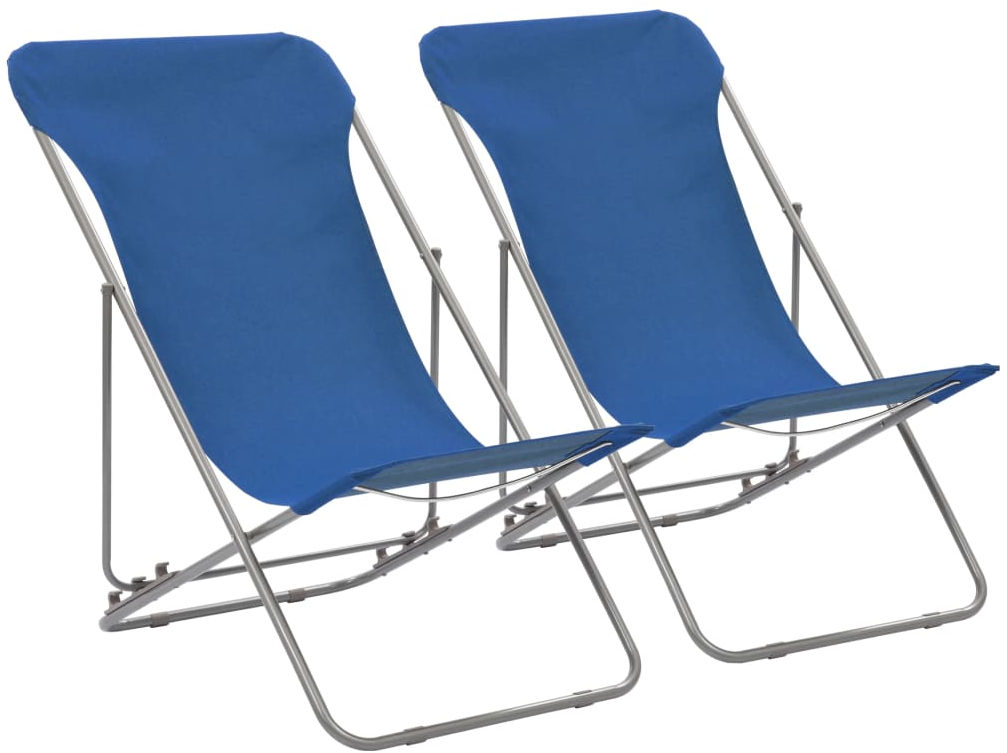 Komplet niebieskich krzeseł plażowych - Loretto