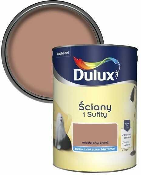 Farba Dulux Ściany i Sufity miedziany oranż 5 l
