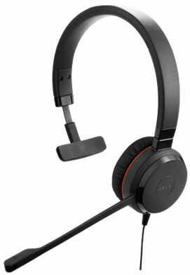 Jabra EVOLVE 30 II MS Mono USB Headband, Noise cancelling, USB and 3.5