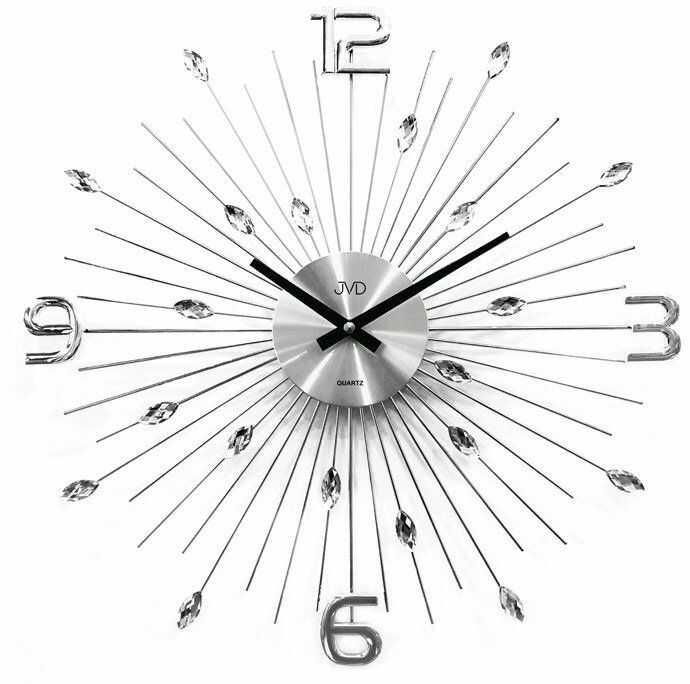 Zegar ścienny JVD HT104 z kryształkami, średnica 49 cm