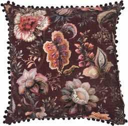 Riva Home Oolong poduszka wypełniona poliestrową, fioletowa, 55 x 55 cm (22 x 22 cali)