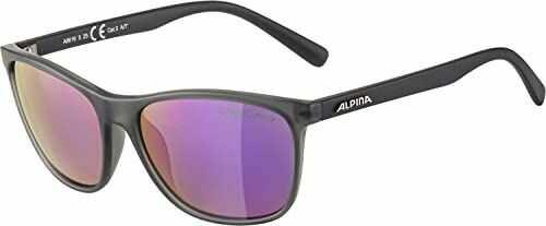 ALPINA Unisex - Dorośli, JAIDA Okulary przeciwsłoneczne, grey transparent matt/purple, One Size