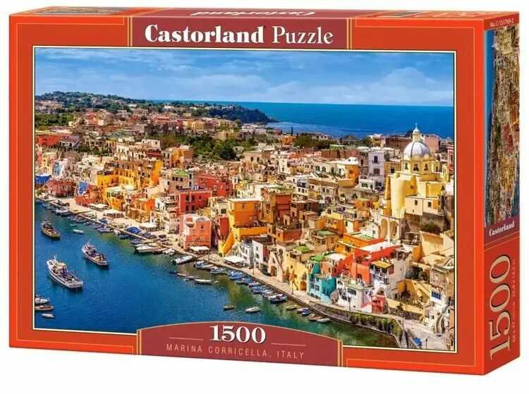 Puzzle 1500 Marina Corricella CASTOR - Castorland