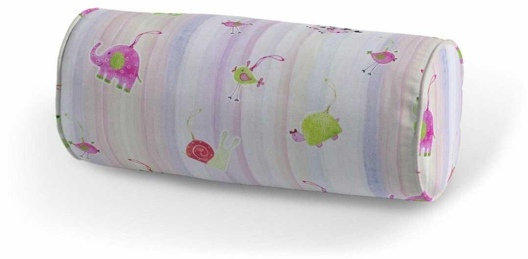 Poduszka wałek prosty, kolorowe zwierzątka na tęczowym tle, Ø16  40 cm, Little World