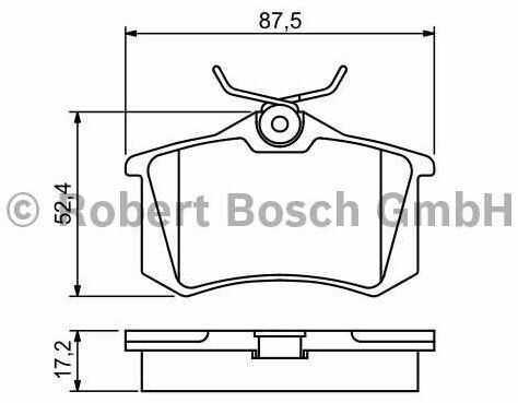 klocki hamulcowe Bosch - kpl. tył