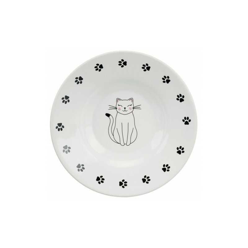 Trixie Talerzyk ceramiczny dla ras krótkopyskich, śr. 15cm