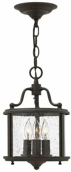 Lampa wisząca Gentry HK/GENTRY/P/S OB Hinkley brązowa oprawa w klasycznym stylu