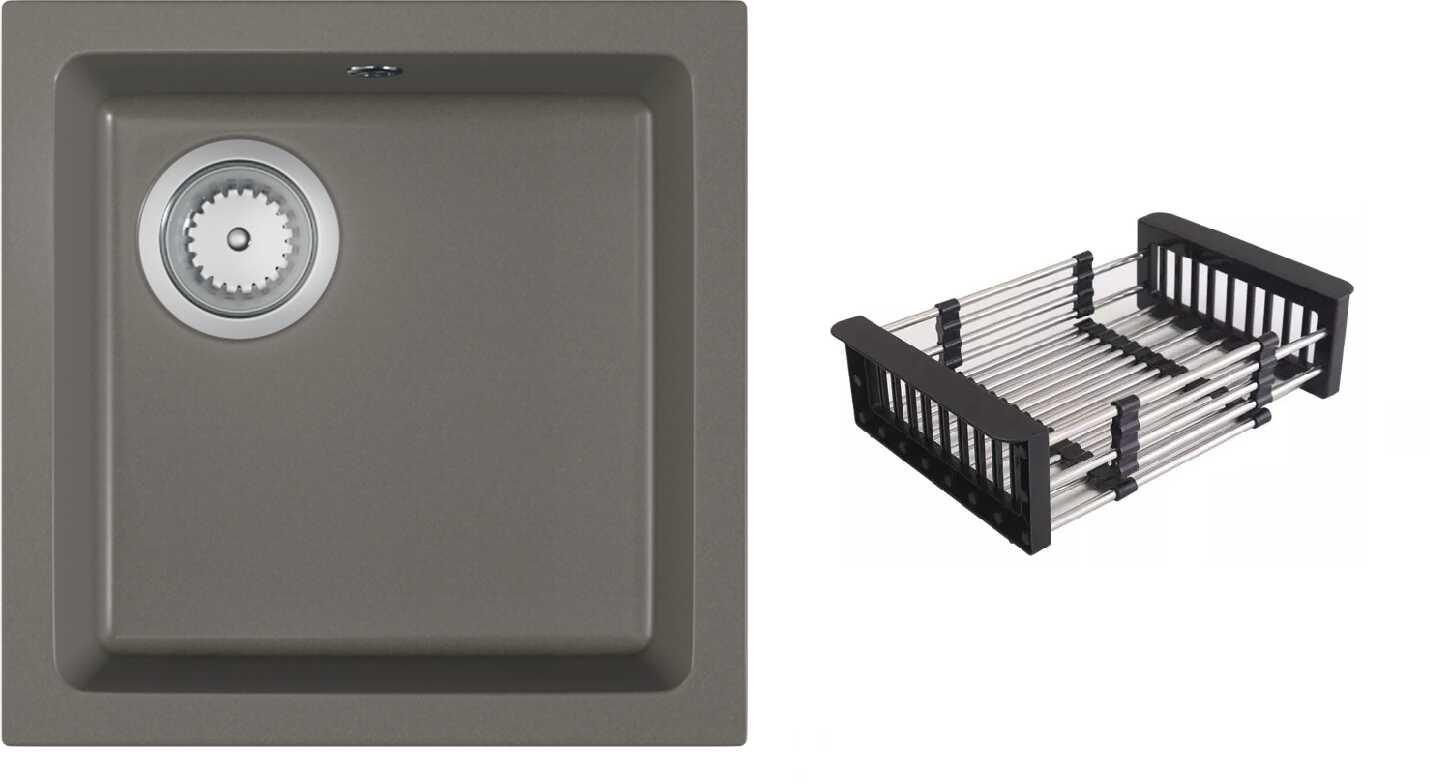 Zlewozmywak granitowy ATRO beton ciemny