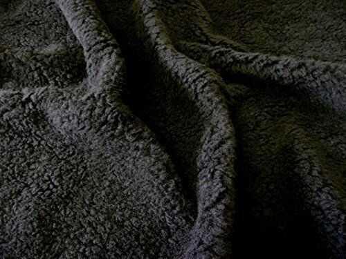 Sztuczne futro SHERPA FLEECE Materiał z owczej skóry - CZARNY