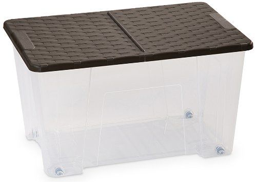 DEA HOME Pudełko do przechowywania Rattan Box 50 LT-ART. 522-DEA HOME, 57x39x32, przezroczyste / brązowe, 57 x 39 x 32 cm