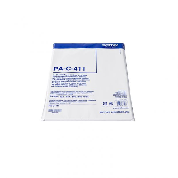 Papier termiczny BROTHER PA-C-411 - black on white (A4, 100 arkuszy) (PAC411)