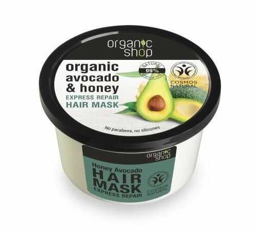 Maska do włosów odbudowująca z miodem i awokado 250 ml Organic Shop