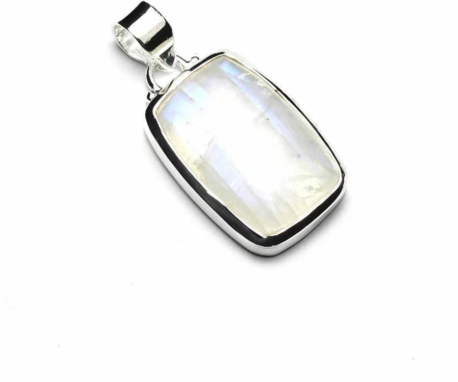 Kuźnia Srebra - Zawieszka srebrna, 35mm, Kamień Księżycowy, 7g, model