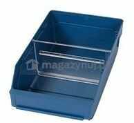 Pojemnik plastikowy warsztatowy z przekładkami. Wym: 300x180x95mm
