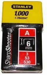 Zszywki tapicerskie typ53 Stanley 6mm