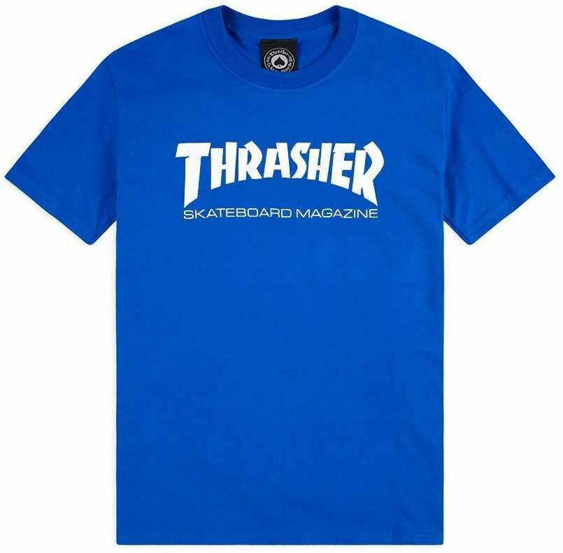 t-shirt męski THRASHER SKATE MAG Royal Blue