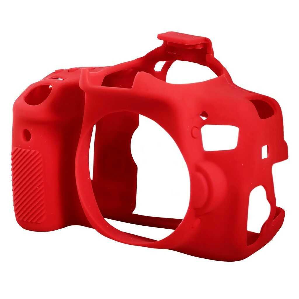 Osłona silikonowa easyCover do aparatów Canon EOS 750D czerwona
