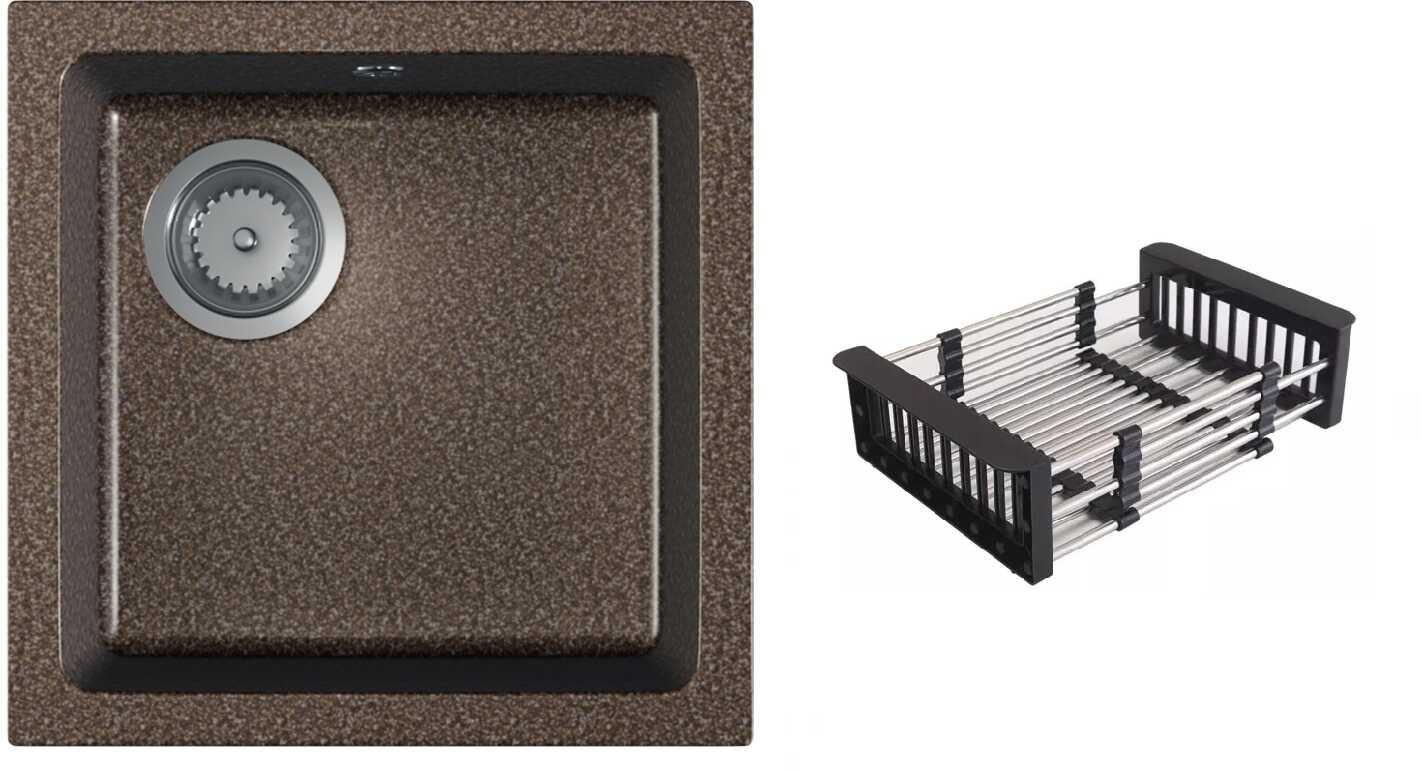 Zlewozmywak granitowy ATRO brązowy nakrapiany