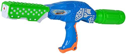 Simba 107276065 Waterzone Bottle Blaster Pro/pistolet na wodę/mechanizm pompowania/pojemnik na butelki PET / pojemność zbiornika: 250 ml / zasięg: 8 m