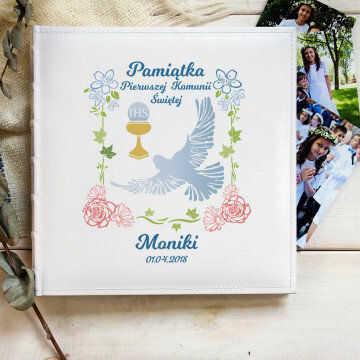 Pamiątka Komunii - Personalizowany Album na zdjęcia