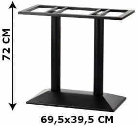 Podstawa stolika podwójna SH-4001-2/B, (stelaż stolika), kolor czarny