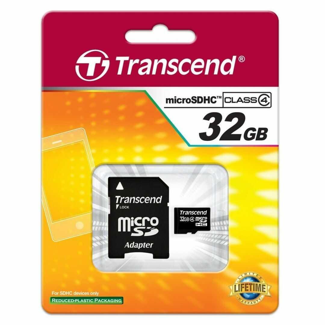 Karta pamięci MicroSD Transcend SDHC 32GB Class 4 + adapter (TS32GUSDHC4)