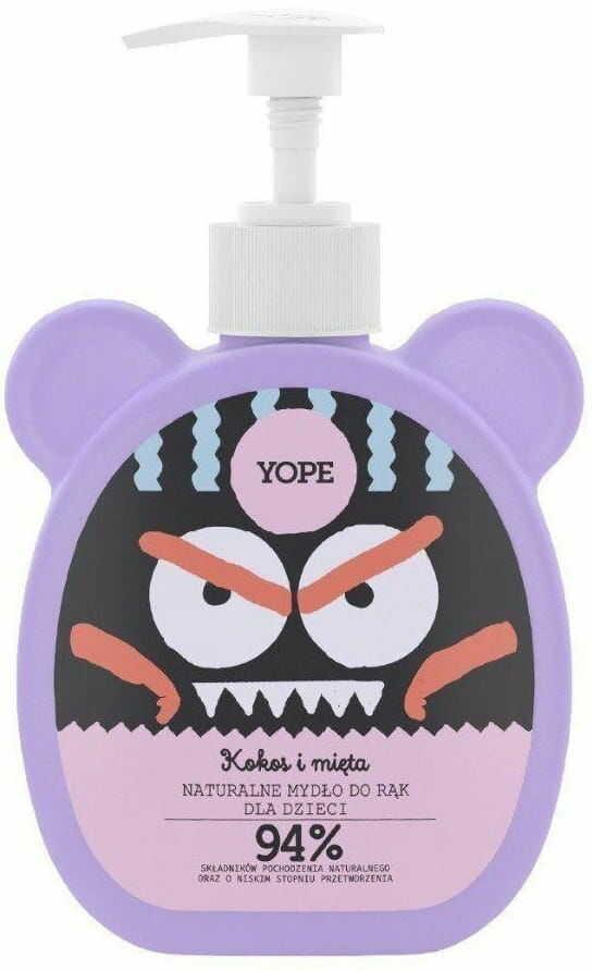 Mydło dla Dzieci Naturalne Kokos i Mięta 400ml - Yope