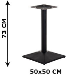 Podstawa stolika SH-4002-8/B, 50x50 cm (stelaż stolika), kolor czarny