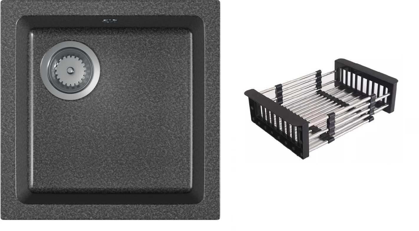 Zlewozmywak granitowy ATRO grafit nakrapiany