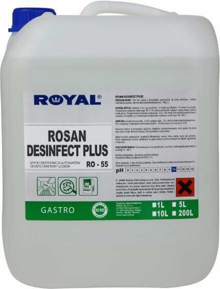 Płyn do dezynfekcji maszyn do lodów i śmietany Rosan Desinfect Plus 5 l