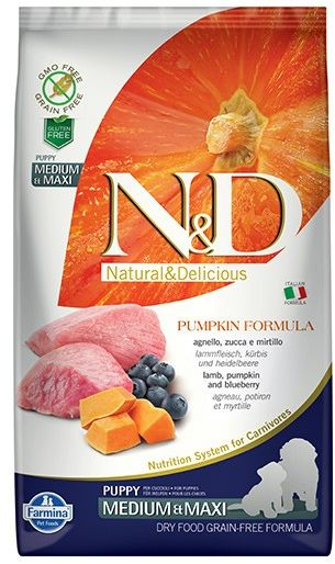 N&D Pumpkin Lamb&Blueberry Puppy Medium/Maxi Dog