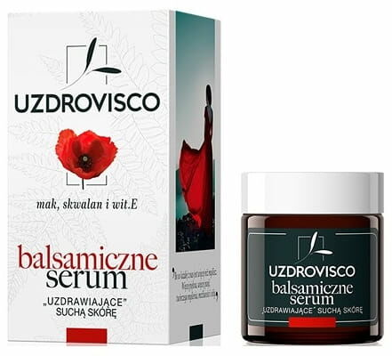 Serum do suchej skóry twarzy mak, skwalan i witamina e 25 ml - uzdrovisco