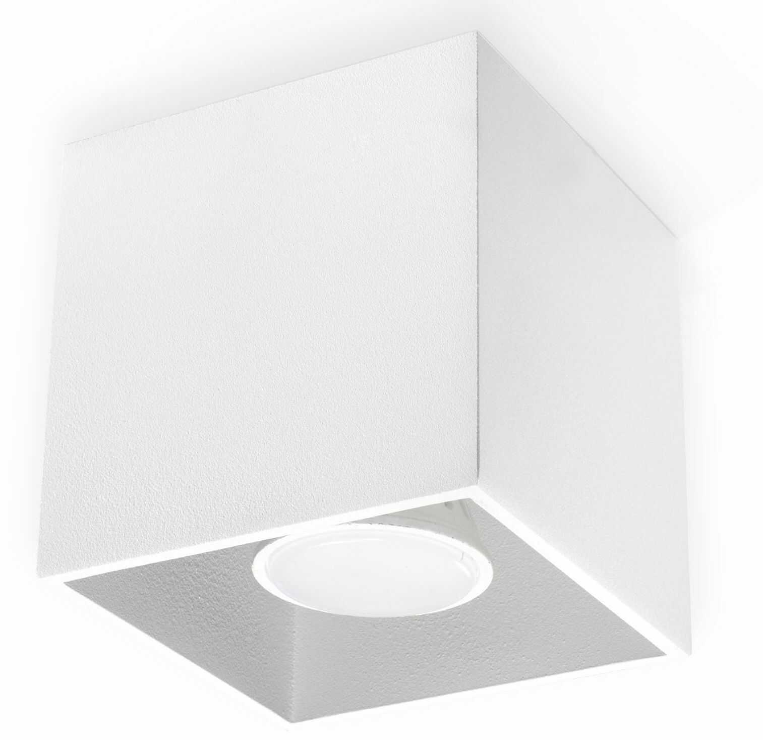 Minimalistyczny plafon E766-Quas - biały