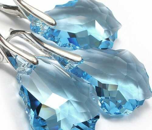 Kryształy piękne kolczyki+wisiorek SREBRO 22mm