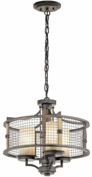 Lampa wisząca Ahrendale KL/AHRENDALE3 Kichler potrójna oprawa w nowoczesnym stylu