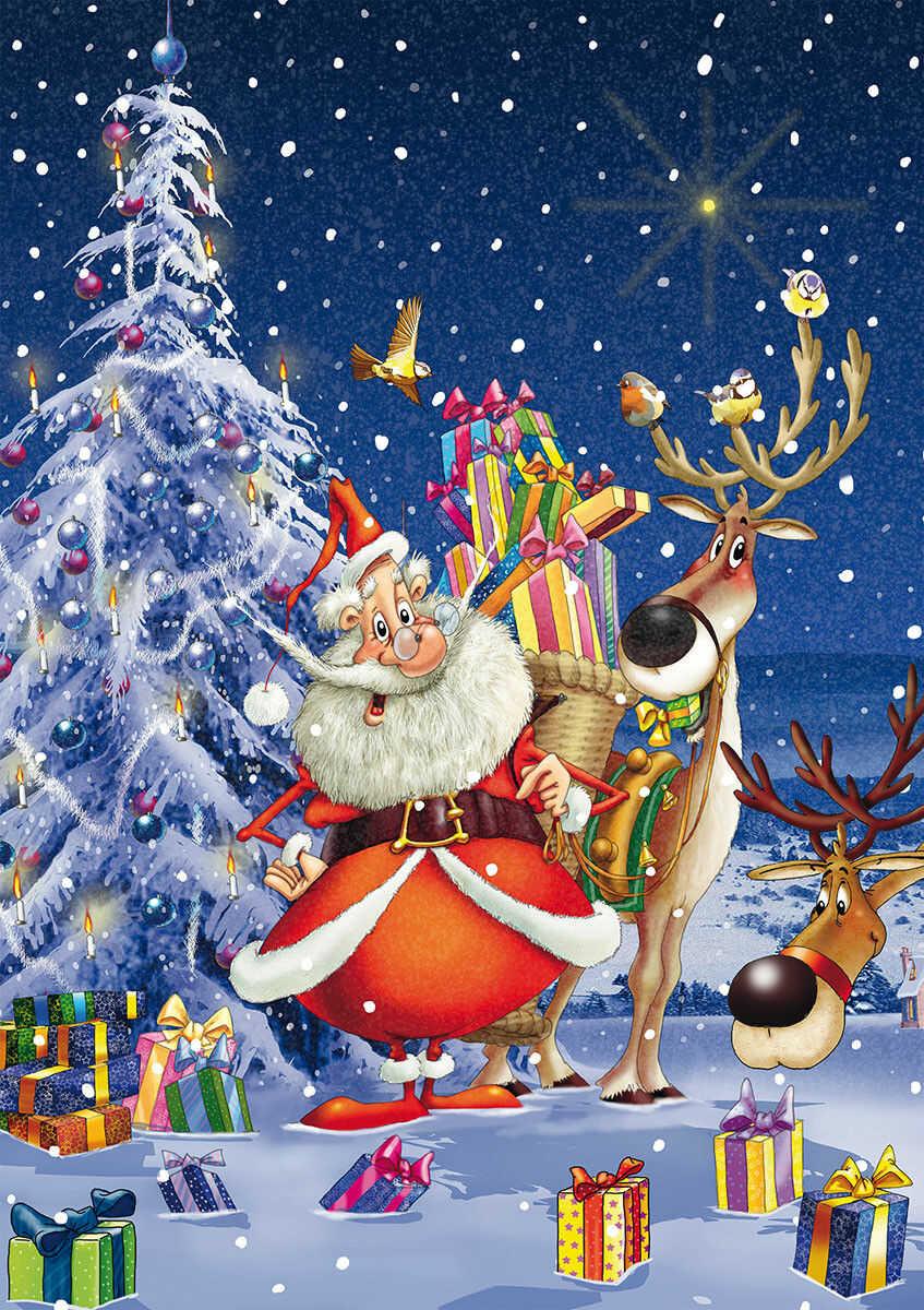 Puzzle Piatnik 1000 - Ruyer, Mikołaj, Happy Santa!