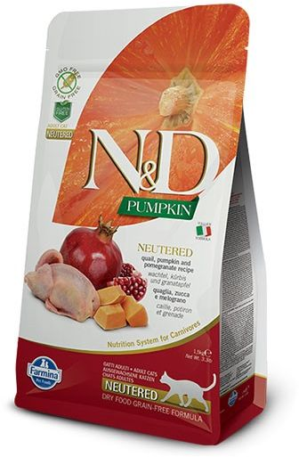 N&D Pumpkin Quail & Pomegranate Adult Neutered Cat