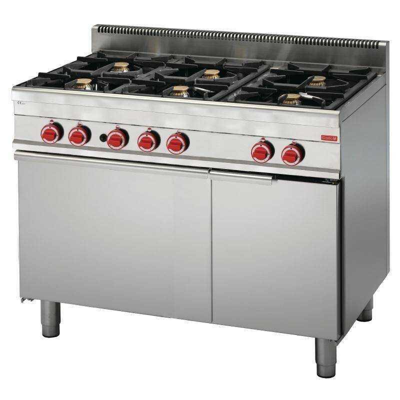 Kuchnia gazowa 6 palnikowa z piekarnikiem gaz. 30800W
