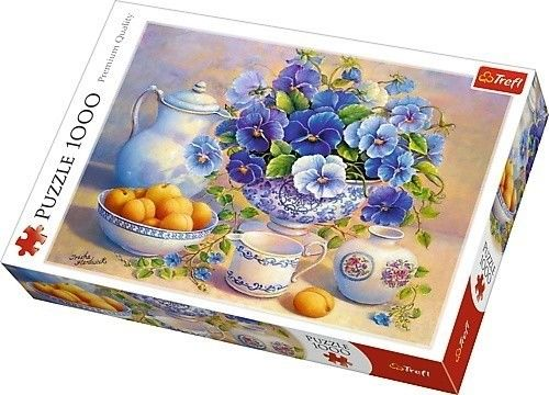 Puzzle TREFL 1000 - PQ - Niebieski bukiet, Blue bouquet