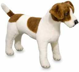 Melissa & Doug Jack Russell Terrier pluszowy miękka zabawka zwierzę wszystkie grupy wiekowe prezent dla chłopców lub dziewczynek