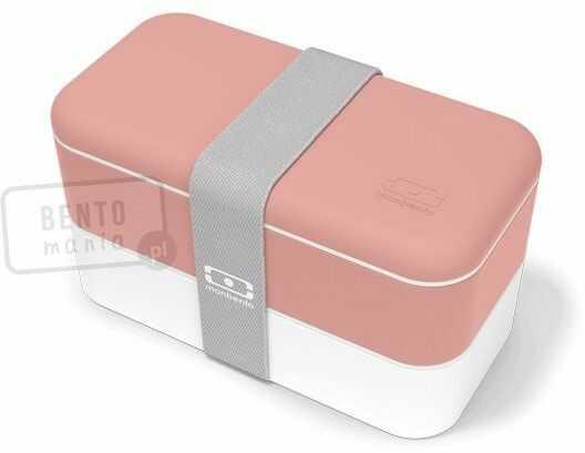 MONBENTO Original pink Flamingo dwupoziomowy, szczelny lunchbox