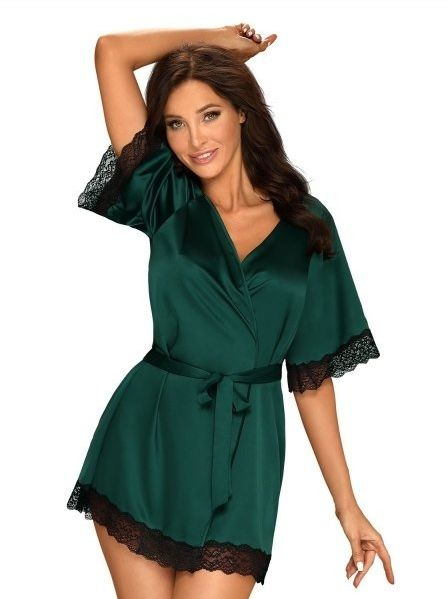 Obsessive sensuelia zielony szlafrok