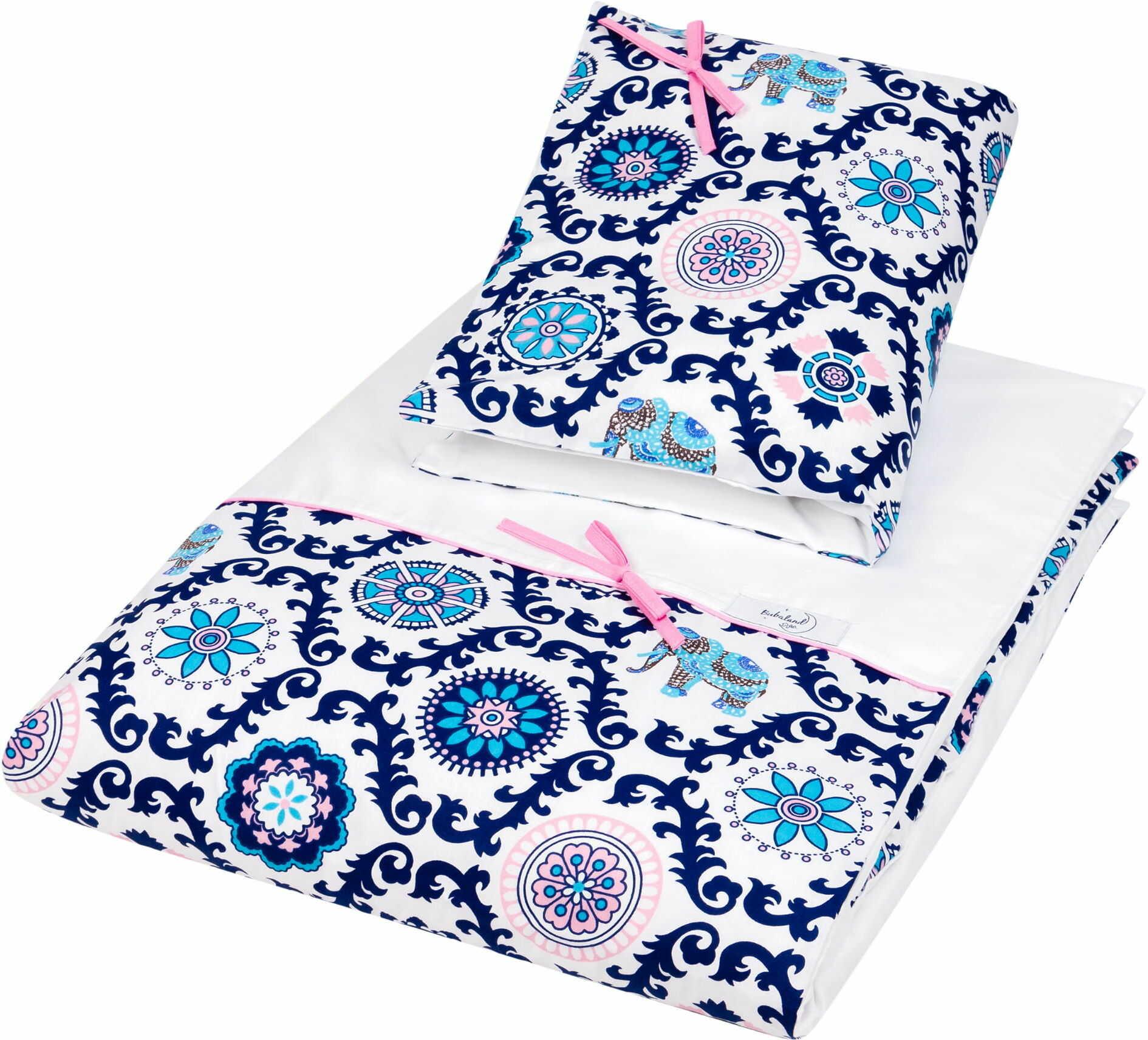 Pościel do łóżeczka, bawełna, satyna 2 el. india