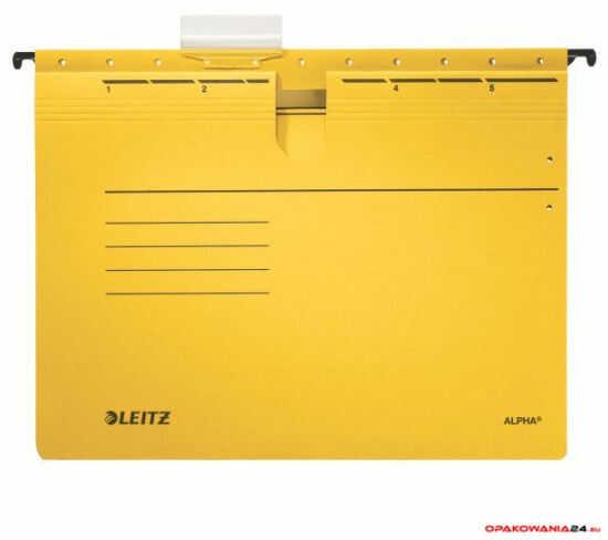 Skoroszyt zawieszany ALPHA żółty Leitz 19840115