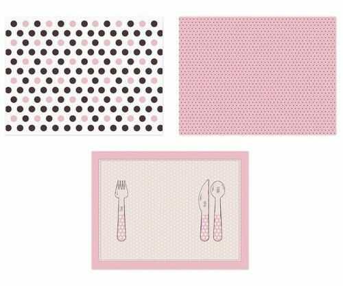 Podkładki papierowe Sweet Dots - Różowe grochy, 6 szt.