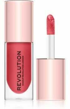 Makeup Revolution Pout Bomb błyszczyk do ust nadający objętość z wysokim połyskiem odcień Peachy 4,6 ml