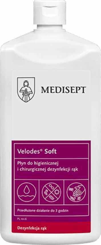 Płyn do dezynfekcji i odkażania rąk Mediline Velodes Soft 500 ml Medi-line Środek do higienicznej i chirurgicznej dezynfekcji rąk